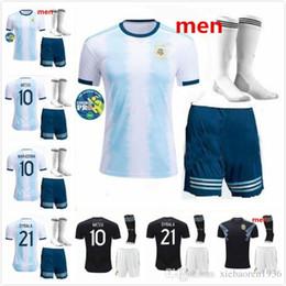 Discount messi soccer socks - Adult kit socks 2019 2020 Argentina Soccer Jerseys Messi Dybala Kun Aguero Di Maria Higuain Futbol Camisa Camisetas foot