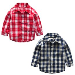 69c856ce good quality 2019 New Arrival Toddler Baby Boys Girls Plaid T Shirts Long  Sleeve Gentleman Tops Kids T Shirt Tees