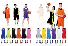 Wholesale Jersey Uniform NZ - Who is fighting for the couple Hot 2019 Men and women Breathable Basketball Set Uniforms kits Sports clothes Youth basketball jerseys DIY