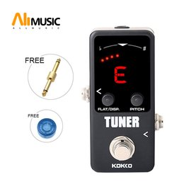 mini tuner guitar Australia - Flanger FTN2 LED Screen Mini Pedal Tuner Guitar Effect Pedals