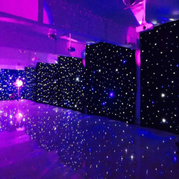 $enCountryForm.capitalKeyWord Australia - New Arrival Blue-White Color LED Star Curtain Wedding Stage Backdrop Cloth With Lighting Controller For Wedding Decoration Supplies