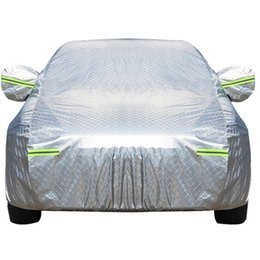 Light Shade Cover Australia - Universal Full Car Covers Waterproof Snow Ice Dust Sun UV Shade Cover Light Silver Size S-XL Auto Car Outdoor Protector Cover