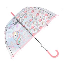 $enCountryForm.capitalKeyWord UK - New Unicorn Umbrella Cartoon Environmental Protection Transparent Umbrella Lady Straight Handle Umbrella Apollo Bird Cage Style T8190619