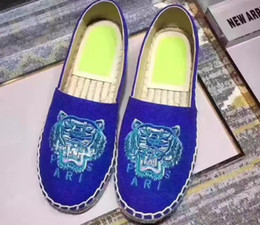Black sheep flats shoes online shopping - 2019 New Arrival Women Low Top Tiger Paris Espadrilles Shoe Casual Sneakers Canvas Sheep Skin Leather Flat Shoe