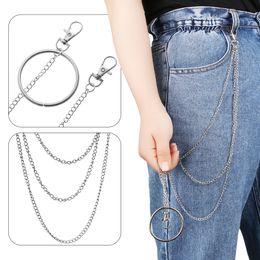 $enCountryForm.capitalKeyWord Australia - 1PC Punk Hip-hop Leather Belts Waist Chain Pants Chain Wallet Biker Link Jeans Silver Metal Trinket Unisex Clothing Accessories