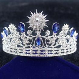 $enCountryForm.capitalKeyWord NZ - Women Baroque Princess Sunflower Crown Ladies Luxury Hair Accessories Bride Shining Rhinestone Wedding Tiaras Hair Jewelry