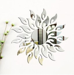korean sun glasses Australia - Silver Wall Sticker Room DIY Sticker For Home Room Wall TV Cabinet Ceiling Art Decor Removable Mirror Shape Modern Sun