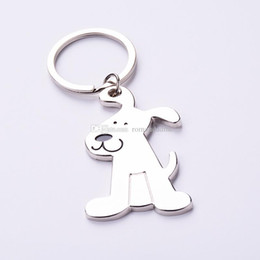 wholesale dog lover gifts NZ - Lovely Pet Dog Alloy keychain wedding favors key chain Baby Shower Party gift key ring DHL free shipping