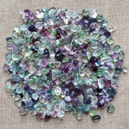 flower pot sizes Canada - 1 Bag 100 g Natural colorful fluorite quartz Stone fish tank flower pot stones Irregular crystal Tumbled Stone (Size: 7--9 mm)