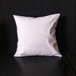 $enCountryForm.capitalKeyWord Australia - 100pcs lot Any Size blank white natural semi white 8oz pure cotton canvas cushion cover for DIY paint print directly from factory low price