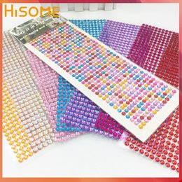 rhinestone phone stickers Canada - ome & Garden Self Adhesive 6mm Flatback Rhinestone Crystal Sticker DIY Photo Album Scrapbooking Craft Sticker for Mobile Phone Car Decora...