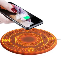 $enCountryForm.capitalKeyWord Australia - 5W 10W Magic Array Wireless Charger Universal Qi Wireless Fast Charger Charging Pad for iPhone X 8 Samsung Note Xiaomi Huawei Top