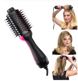 $enCountryForm.capitalKeyWord Australia - Hair Dryer Brush 2 in 1 Hair Curlers Straighteners Ionic Blow Dryer Brush Multifunctional Hot Hair Roller Rotating Styler Comb For Woman