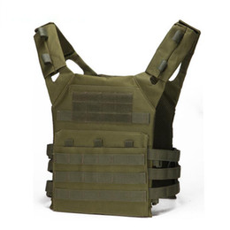 TacTical vesT green online shopping - 6Color Tactical Vest Quick Combat Hunting Vest Molle Chest Rig Protective Plate Carrier climbing adjustable Combat Gear Vests