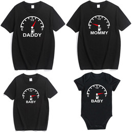 mommy daughter shirts NZ - Mommy and Me Mother Daughter Clothes Summer Speedometer Compass Clock Print Family T Shirts Cotton Couple Pajamas Sister Sets