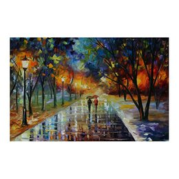 "hand painted romantic canvases UK - 48""*24"" Forest landscape hand-painted canvas mural decoration romantic walk in the woods the sitting room porch decoration study"