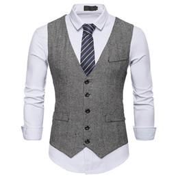 $enCountryForm.capitalKeyWord Australia - Waistcoat Dress Vests For Men Casual Slim Fit Mens Suit Vest autumn Gilet Homme Formal Business Jacket sleevelss d90628