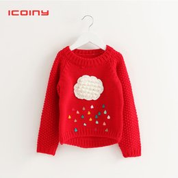 $enCountryForm.capitalKeyWord Australia - Red Sweater Cotton Knitted Black Cardigan Outerwear For Baby Girls Children Warm Sweater With Appliques Baby Knitting Clothes