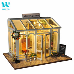 $enCountryForm.capitalKeyWord NZ - Winco Wooden Diy Doll House Toy Miniature Box Puzzle Dollhouse Diy Kit Furniture Flower Cake Shop Model Gift Toy For Children Y19070503