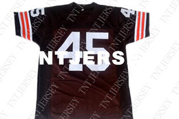 wholesale Ernie Davis  45 The Express Movie New Football Jersey Brown  Stitched Custom any number name MEN WOMEN YOUTH Football JERSEY c5c403ad6