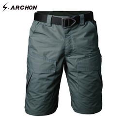 $enCountryForm.capitalKeyWord Australia - S.archon Summer Military Camouflage Cargo Shorts Men Casual Multi Pocket Waterproof Cotton Shorts Ripstop Army Tactical Shorts Y19071601