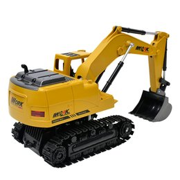eight toys NZ - 2.4G Eight-Way Alloy Excavator 1:24 Wireless Remote Control Excavator Creative Portable Environmental Toy RC Truck Model Toy