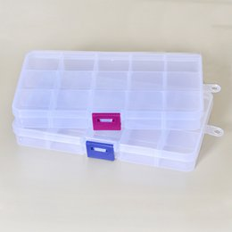 $enCountryForm.capitalKeyWord Australia - Plastic 15 Slots Compartment Adjustable Necklace Transparent Storage Box Case Organizer Removable Makeup Jewelry Scattered