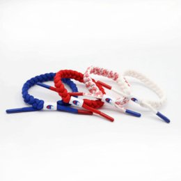 Wholesale Unisex Champion Printing Shoelace Wristband Bracelet Nylon Sneakers Jewelry Braided Lace Bracelets Street Fashion Accessories Gifts C41206