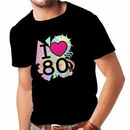 $enCountryForm.capitalKeyWord Australia - Cheap Price 100% Cotton Tee Shirts Crew Neck New Style I Love 80'S Band Clothing Musically Short Sleeve Tee Shirt For Men