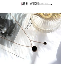 jewel chains Australia - Fashion- simple wild chain black disc tassel necklace female students short paragraph clavicle chain personality retro student tide jewel