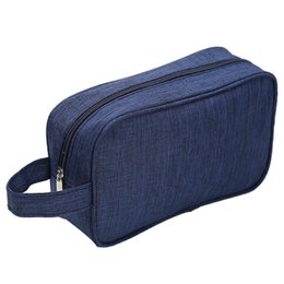 wholesale small travel makeup bag NZ - Blue Women Men Small Waterproof Makeup Bag Travel Beauty Cosmetic Bag Organizer Case Necessaries Make Up Toiletry