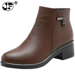 New Cowboy Shoes For Man UK - 2019 New Arrivals Soft Leather Ankle Boots  Women Comfortable 57c43315d497