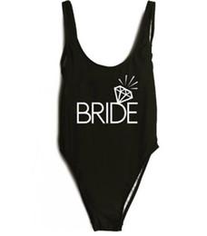 Bride Gold Print 2018 Women One Piece Swimsuit High Cut Swimwear Bathing  Suit Black Monokini Bodysuit Beachwear Maillot De Bain ywxk 5048dfbc90fa