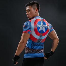 $enCountryForm.capitalKeyWord Australia - Captain America 3D Printed T-Shirt Men's Compression Shirt Superhero Marvel Comics Funny Fitness Clothing Crossfit Tops & Tees