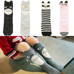 56f846492 Girls Cartoon Short Knee High Tube Socks Heaps Fox Star Bear Stripe Cotton  Socks Kids Leg Warm Sock Knee High Autumn Clothing