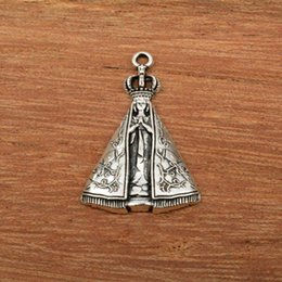 $enCountryForm.capitalKeyWord NZ - New Stainless Steel Mens Womens Religious Virgin Mary Charms Pendant Necklace Jewelry Catholic, Wholesale, Free Shipping C67
