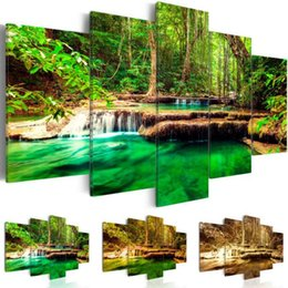 art combinations Australia - 5 Panel Home Decor Canvas Art Print Oil Painting Landscape Modern Wall Pictures for Living Room Wall Art Room Decor,No Frame