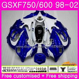 $enCountryForm.capitalKeyWord Australia - Kit For SUZUKI KATANA GSX750F GSXF750 1998 Blue White 1999 New 2000 2001 2002 Body 3HM.4 GSXF 750 600 GSX600F GSXF600 98 99 00 01 02 Fairing