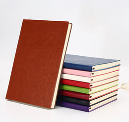 Discount leather sketchbooks - High Quality A5 Ancient Vintage Leather Classic String Key Notebook for Daily Schedule Memo Sketchbook Home School Suppl