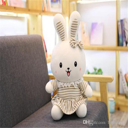 small stuffed plush rabbit Australia - 20170709 2019 Hot Sale Lovely Rabbit Plush Toy Doll And Baby Small Pillow birthday girl Or Stuffed Animals Free Shipping