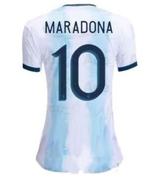 argentina l short Canada - Women's Argentina Soccer Jersey DI MARIA MESSI DYBALY Football Shirt Copa America 2019 Girls Football Jerseys Sports Uniforms