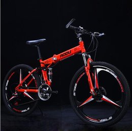 """Alloy Suspension Australia - Mountain Bike 26"""" 21 24 27Speeds Aluminum Alloy Folding Variable Speed Cycling Double Vibration Damping Brakes For Man and Women"""