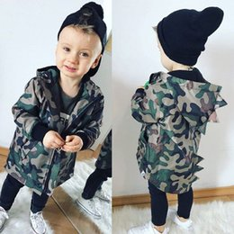 Baby Camouflage Jackets Australia - Casual Toddler Kid Baby Boy Camouflage Jacket Dinosaur Zipper Coat Top Hooded Outwear