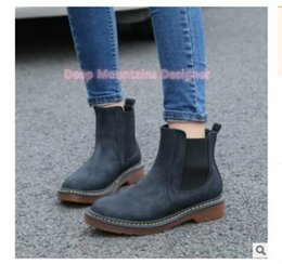 $enCountryForm.capitalKeyWord Australia - Deep Mountains Designer fashion winter tricolor brand new leather female ankle Martin ankle boots motorcycle smooth shoe fashion