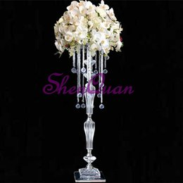 $enCountryForm.capitalKeyWord UK - Fashionable acrylic stand with bead,table flower stands,wedding occasion acrylic material walkway flower stand,tall wedding centerpiece