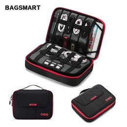Flash Drive Charger Australia - BAGSMART Date Cable Digital Accessories Finishing Data Charger Wire Storage Mp3 Earphones Usb Flash Drive Organizer