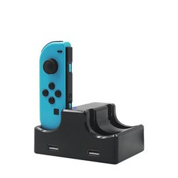 station wireless controllers Australia - 4 in 1 Switch Controllers USB Charging Dock Station for NS Controller Charging Cradle Wireless Joy Con Console Charge