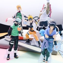 3d resin pendants Canada - 5pcs set Japanese Anime Naruto Action Figure Anime Keychain 3D Kakashi Gaara Model Toys Bag Charms Pendant Collection Gifts