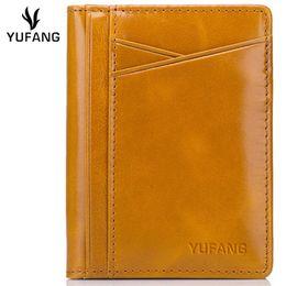 $enCountryForm.capitalKeyWord UK - YUFANG Genuine Leather Card Holder Female Oil Wax Leather Change Wallet Women Bright Color Card Case Fashion Purse Ladies