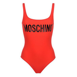 $enCountryForm.capitalKeyWord UK - Red Sexy Summer Bikini Beach Wear Backless Women Swimwear Fashion Letter Printed Bikini Simple Style Lady Swimsuit Bikini